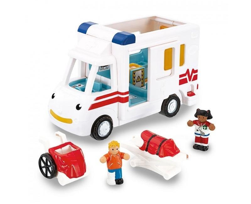 Robin a játék mentőautó figurákkal - Wow