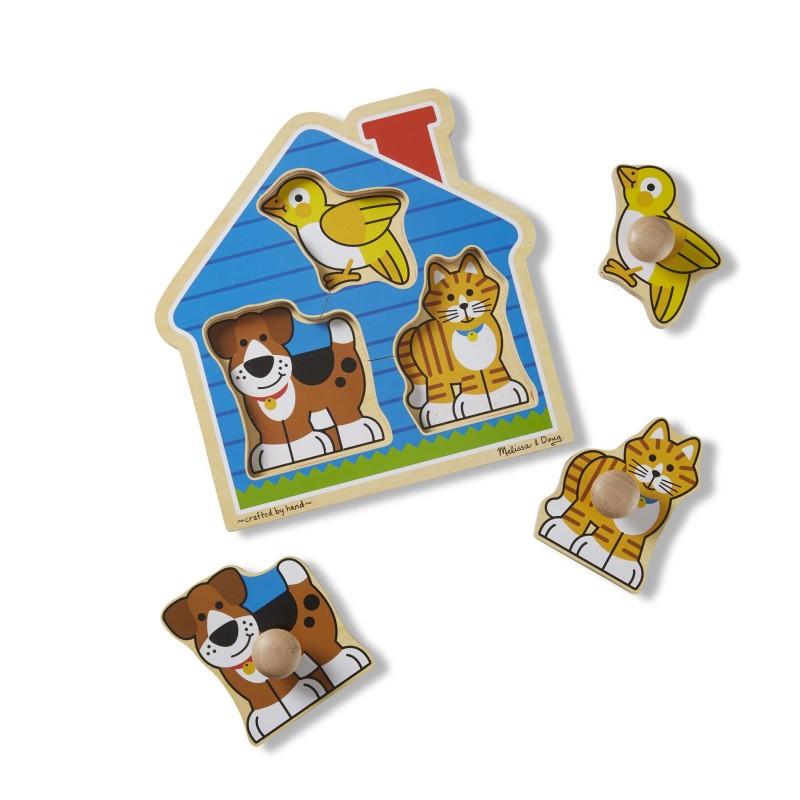 Első kirakóm - kiskedvencek puzzle fogantyúval - Melissa and Doug
