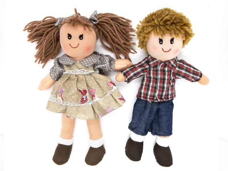 Fiú és lány rongybaba - 25 cm - Bumi