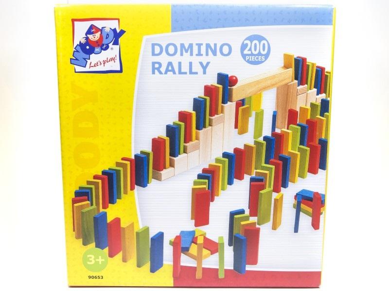 Színes fa dominó szett - 200 db - Woodyland