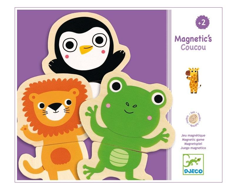 Mágneses dzsungelállatos kirakó - 12 figura - Djeco