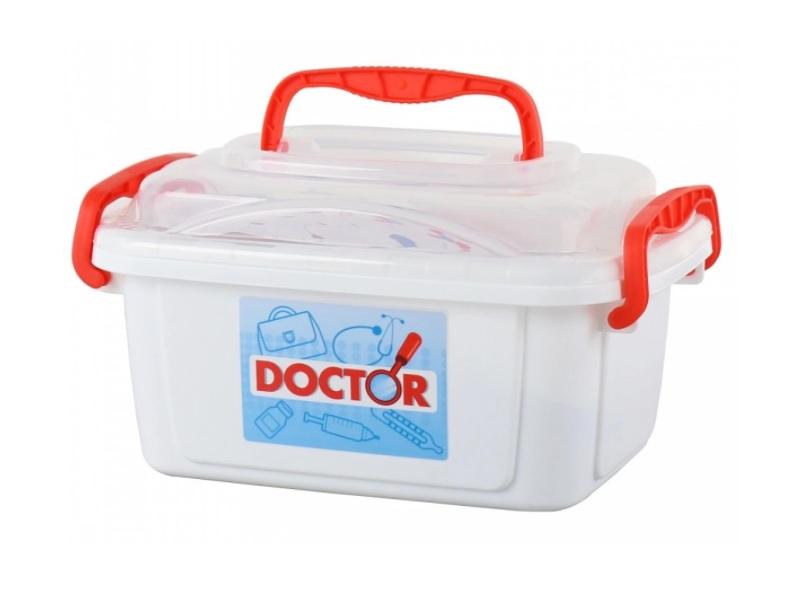 Orvosi készlet dobozban - 14 darabos - Polesie