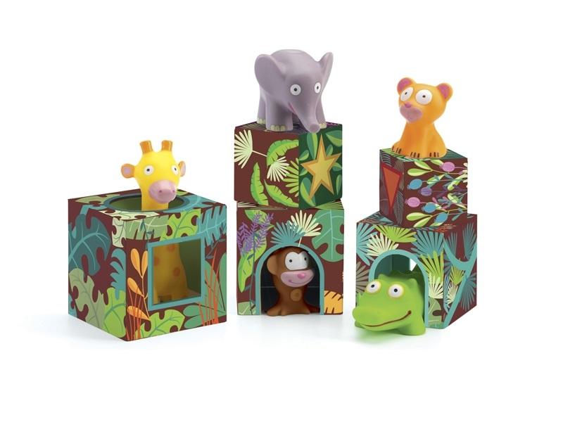 Toronyépítő szavannai állatokkal - Maxi Topanijungle - Djeco