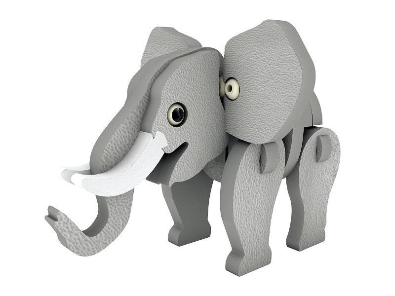 3D állatkás habszivacs kirakó - 5 féle választható állat - Mammut