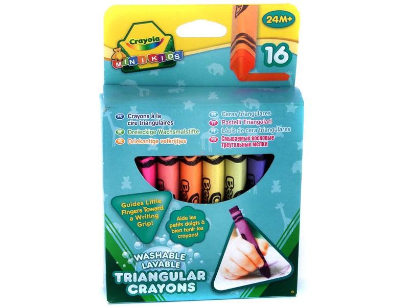 Háromszög alakú tömzsi zsírkréta - 16 darabos - Crayola
