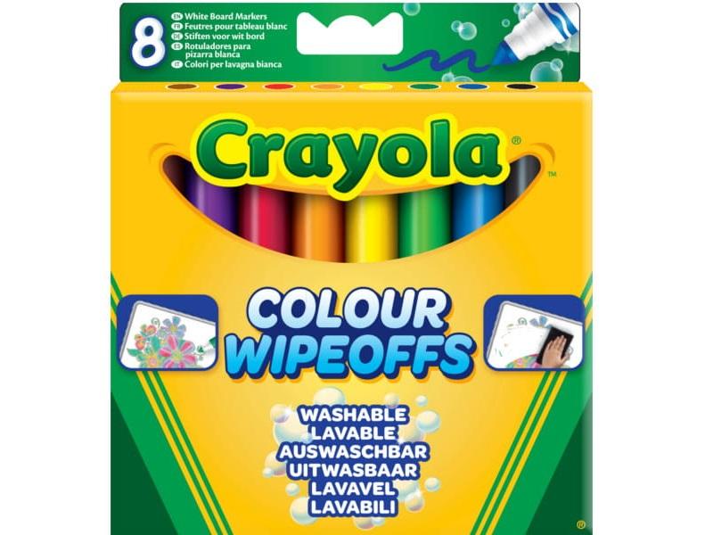 Letörölhető filctoll fehér táblára - 8 darabos - Crayola