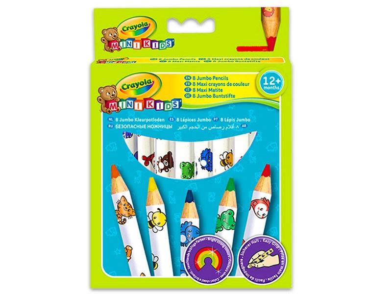 Színes vastag ceruza - 8 darabos - Crayola
