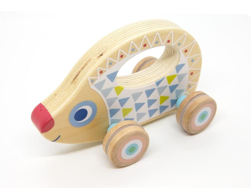 Guruló sünis fa kisautó - BabyRouli - Djeco