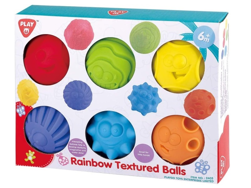 Szenzoros labdák - 6 darab - Playgo