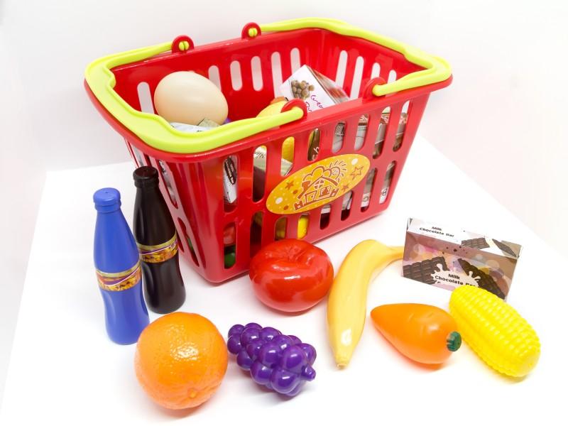 Játék bevásárló kosár élelmiszerekkel - Playgo