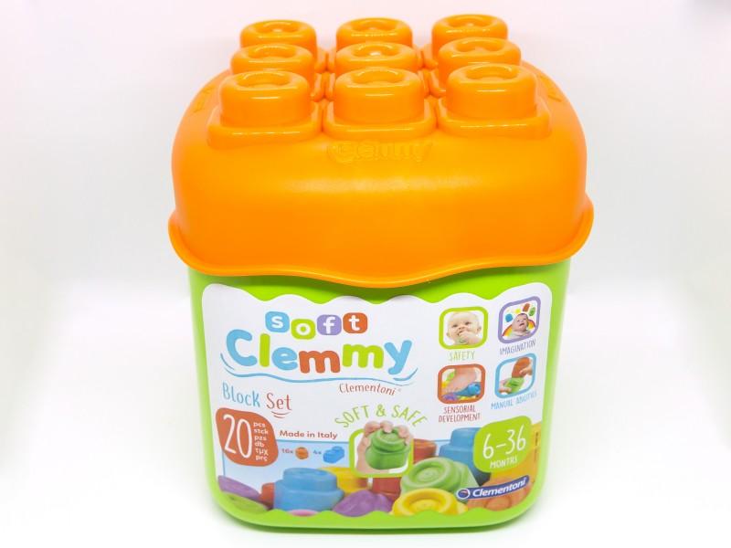 Clemmy Baby puha építőkocka - 20 db - Clementoni