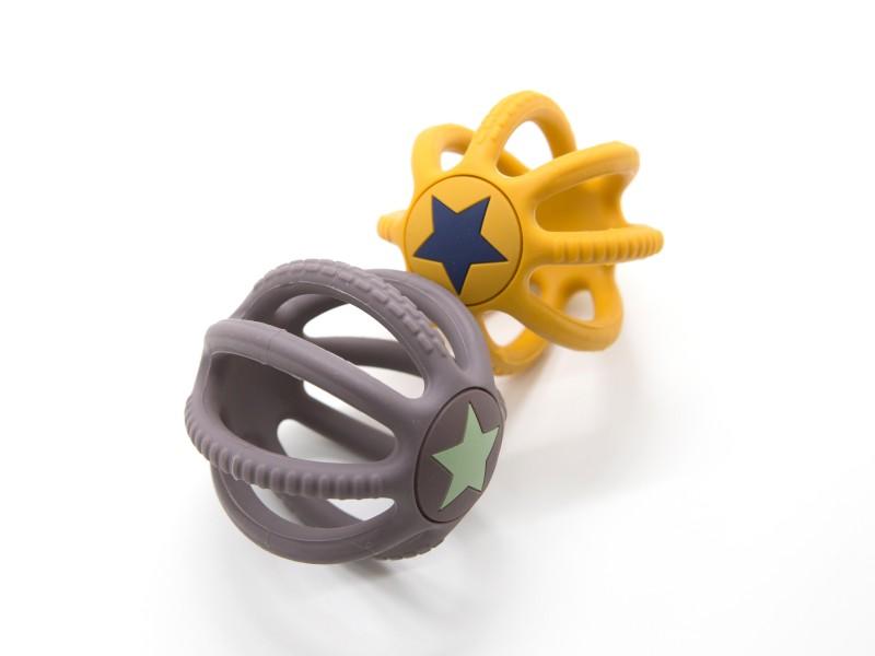 Fejlesztő szilikon labda babáknak - kétféle - Magni