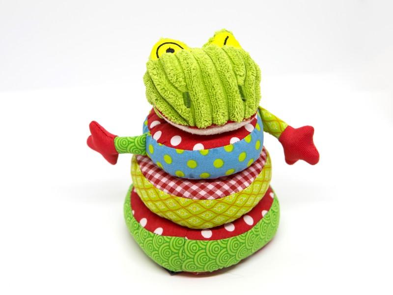 Szenzoros gyűrűpiramis játék babáknak - Deglingos