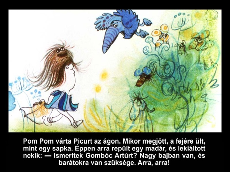 Pom Pom meséi: A radírpók diafilm