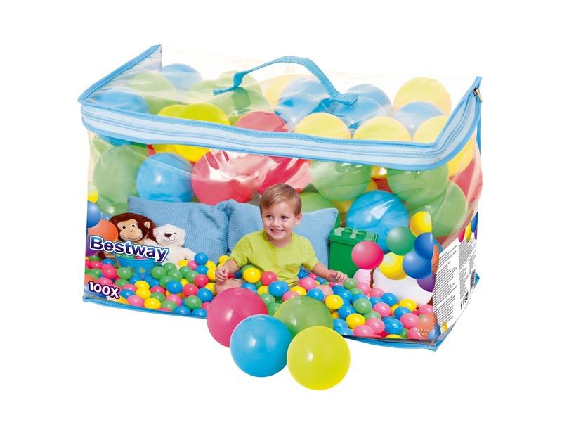 Színes műanyag labda - 100 darab - Bestway